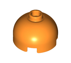 LEGO Orange Brick 2 x 2 Round with Dome Top (Hollow Stud with Bottom Axle Holder x Shape + Orientation) (30367)