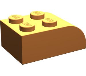 LEGO Orange Brick 2 x 3 with Curved Top