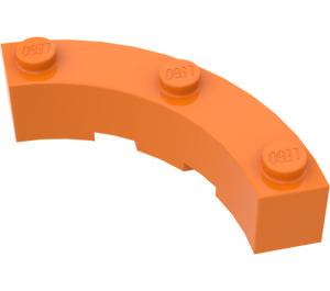LEGO Orange Brick Corner 4 x 4 (Wide with 3 Studs) (48092)