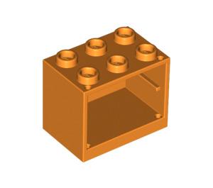 LEGO Orange Cupboard 2 x 3 x 2 with Recessed Studs (92410)