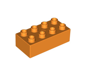 LEGO Orange Duplo Brick 2 x 4 (3011 / 31459)