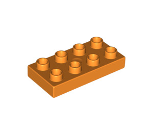 LEGO Orange Duplo Plate 2 x 4 (40666)