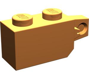 LEGO Orange Hinge Brick 1 x 2 Locking with Single Finger (Vertical) On End