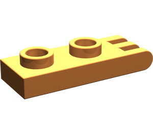 LEGO Orange Hinge Plate 1 x 2 with 3 fingers