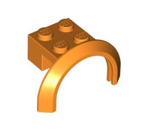 LEGO Orange Mudguard with Round Arch 4 x 2 1/2 x 2 (50745)