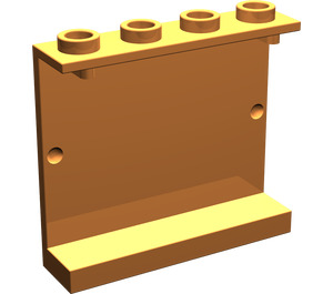 LEGO Orange Panel 1 x 4 x 3 without Side Supports, Hollow Studs (4215)