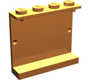 LEGO Orange Panel 1 x 4 x 3 without Side Supports, Solid Studs (4215)