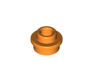 LEGO Orange Plate 1 x 1 Round with Open Stud (28626)