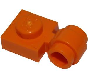 LEGO Orange assiette 1 x 1 avec Agrafe (Anneau épais) (4081)