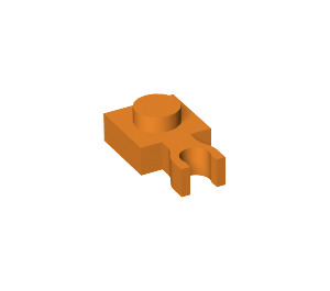 LEGO Orange Plate 1 x 1 with Vertical Clip (Thin 'U' Clip) (60897)