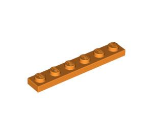 LEGO Orange Plate 1 x 6 (3666)