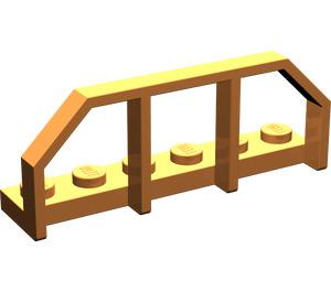 LEGO Orange Plate 1 x 6 with Train Wagon End