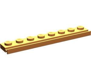 LEGO Orange Plate 1 x 8 with Door Rail