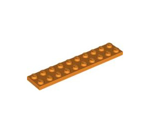 LEGO Orange Plate 2 x 10 (3832)