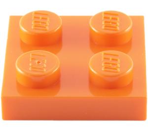 LEGO Orange Plate 2 x 2 (3022 / 94148)