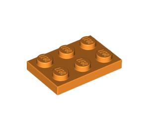 LEGO Orange Plate 2 x 3 (3021)