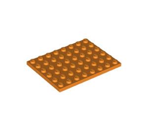LEGO Orange Plate 6 x 8 (3036)