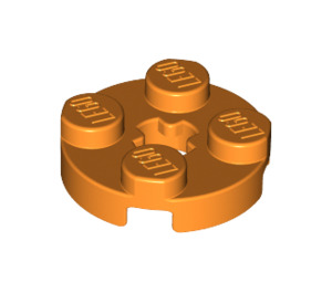 LEGO Orange Round Plate 2 x 2 with Axle Hole (with '+' Axle Hole) (4032)