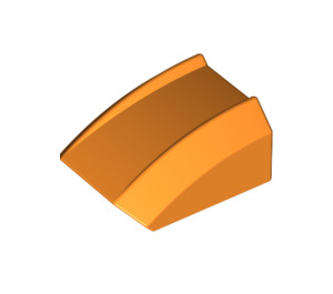 LEGO Orange Slope 1 x 2 x 2 Curved (30602)