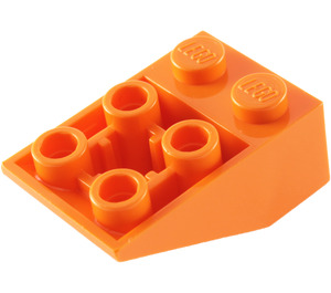 LEGO Orange Slope 2 x 3 (25°) Inverted with Connections between Studs (3747)