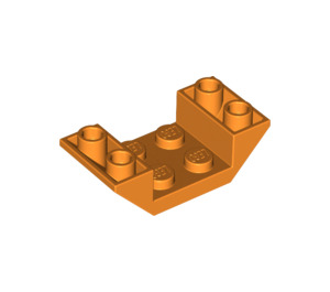 LEGO Orange Slope 45° 4 x 2 Double Inverted with Open Center (4871)