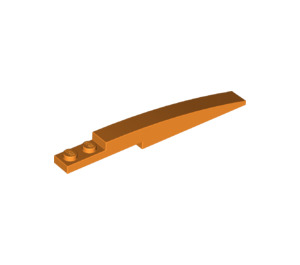 LEGO Orange Slope Curved 8 x 1 with Plate 1 x 2 (13731)