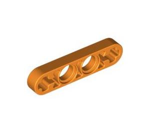 LEGO Orange Technic Beam 4 x 0.5 with Axle Hole each end (32449)