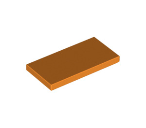 LEGO Orange Tile 2 x 4 (87079)