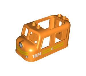 LEGO Orange Train Chassis 4 x 8 x 3.5 Top (38744)