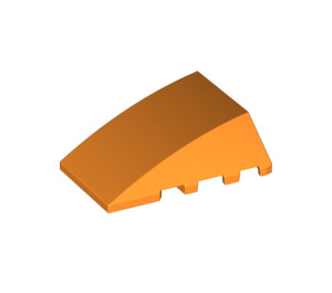 LEGO Orange Wedge 4 x 4 Triple Curved without Studs (47753)