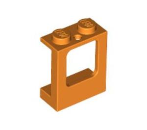 LEGO Orange Window 1 x 2 x 2 with 2 Holes in Bottom (2377)