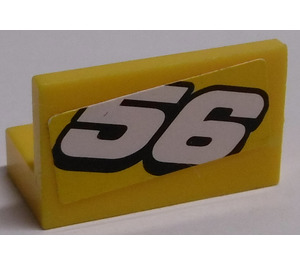 "LEGO Panel 1 x 2 x 1 with ""56"" Downwards Sticker (4865)"