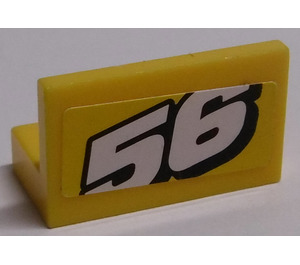 "LEGO Panel 1 x 2 x 1 with ""56"" Sticker (4865)"