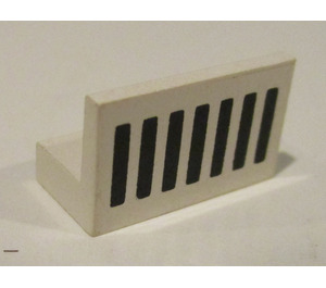 LEGO Panel 1 x 2 x 1 with Black Grille without Rounded Corners (4865)