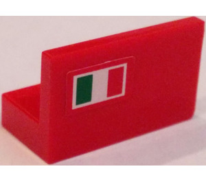 LEGO Panel 1 x 2 x 1 with Italian Flag (Left Side) Sticker (4865)