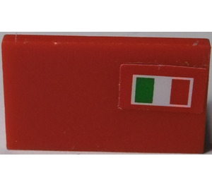 LEGO Panel 1 x 2 x 1 with Italian Flag (Right) Sticker (4865)