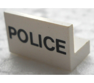 LEGO Panel 1 x 2 x 1 with Police without Rounded Corners (4865)