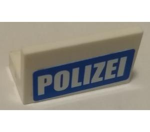 LEGO Panel 1 x 2 x 1 with Polizei Sticker (4865)