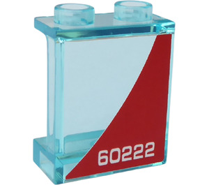 LEGO Panel 1 x 2 x 2 with '60222' (Left Side) Sticker with Side Supports, Hollow Studs (6268)