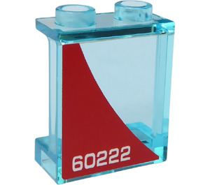 LEGO Panel 1 x 2 x 2 with '60222' (Right Side) Sticker with Side Supports, Hollow Studs (6268)