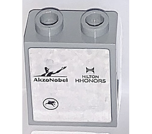 LEGO Panel 1 x 2 x 2 with AkzoNobel and Hilton HHONORS Sticker with Side Supports, Hollow Studs (6268)
