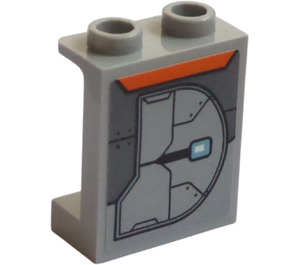 LEGO Panel 1 x 2 x 2 with Armor Plate (Right) Sticker with Side Supports, Hollow Studs (6268)