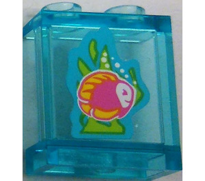 LEGO Panel 1 x 2 x 2 with Fish and Seaweed Sticker with Side Supports, Hollow Studs (6268)