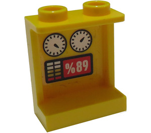 LEGO Panel 1 x 2 x 2 with gauges and '89' Sticker with Side Supports, Hollow Studs (6268)