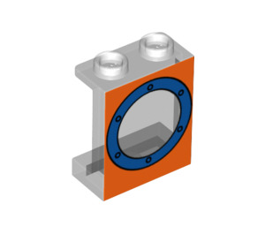 LEGO Panel 1 x 2 x 2 with Porthole with Side Supports, Hollow Studs (6268 / 56077)