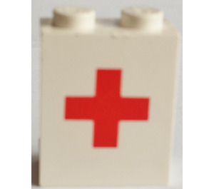 LEGO Panel 1 x 2 x 2 with Red Cross without Side Supports, Solid Studs (4864)