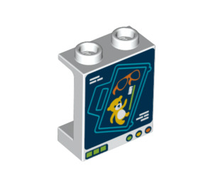 LEGO Panel 1 x 2 x 2 with Suitcase X-Ray Scan with Side Supports, Hollow Studs (6268 / 68340)