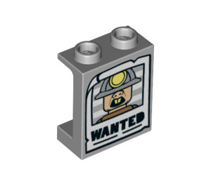 LEGO Panel 1 x 2 x 2 with Wanted Poster with Side Supports, Hollow Studs (6268 / 38138)