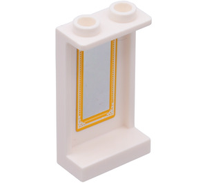 LEGO Panel 1 x 2 x 3 with Framed Mirror Sticker from Set 41054 with Side Supports - Hollow Studs (74968)