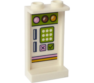 LEGO Panel 1 x 2 x 3 with Ice Cream Machine Panel Sticker with Side Supports - Hollow Studs (35340)